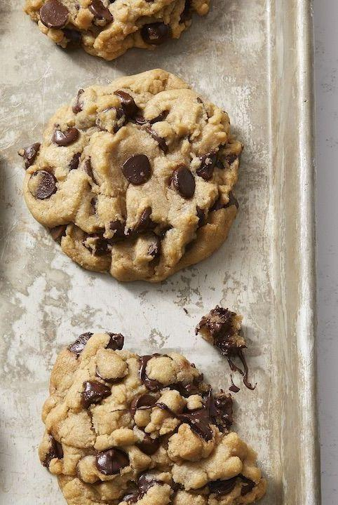 """<p>Why should vegans miss out on the chocolatey dessert fun? These cookies are 100% plant based.</p><p><em><a href=""""https://www.goodhousekeeping.com/food-recipes/dessert/a30172161/vegan-chocolate-chip-cookies-recipe/"""" rel=""""nofollow noopener"""" target=""""_blank"""" data-ylk=""""slk:Get the recipe for Vegan Chocolate Chip Cookies »"""" class=""""link rapid-noclick-resp"""">Get the recipe for Vegan Chocolate Chip Cookies »</a></em></p>"""
