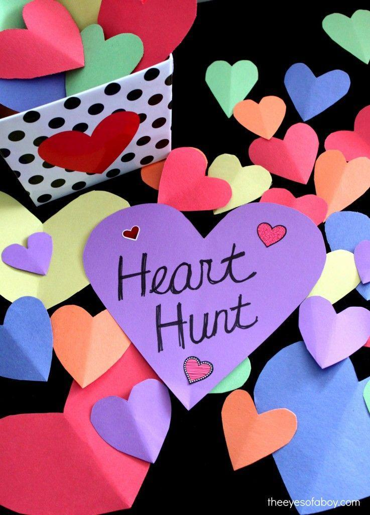 """<p>If you have things to get done on Valentine's Day—perhaps cooking a <a href=""""https://www.countryliving.com/food-drinks/g4770/dinner-ideas-for-two/"""" rel=""""nofollow noopener"""" target=""""_blank"""" data-ylk=""""slk:romantic dinner for two"""" class=""""link rapid-noclick-resp"""">romantic dinner for two</a>!—set up this scavenger hunt to keep your little ones occupied. </p><p><strong>Get the tutorial at <a href=""""https://wildlycharmed.com/2015/02/valentines-heart-scavenger-hunt-activity-for-kids.html"""" rel=""""nofollow noopener"""" target=""""_blank"""" data-ylk=""""slk:Wildly Charmed"""" class=""""link rapid-noclick-resp"""">Wildly Charmed</a>.</strong></p><p><strong><strong><a class=""""link rapid-noclick-resp"""" href=""""https://www.amazon.com/Neenah-Cardstock-Heavy-Weight-Brightness-91437/dp/B07D4YF3K4?tag=syn-yahoo-20&ascsubtag=%5Bartid%7C10050.g.25916974%5Bsrc%7Cyahoo-us"""" rel=""""nofollow noopener"""" target=""""_blank"""" data-ylk=""""slk:SHOP CARD STOCK"""">SHOP CARD STOCK</a></strong><br></strong></p>"""
