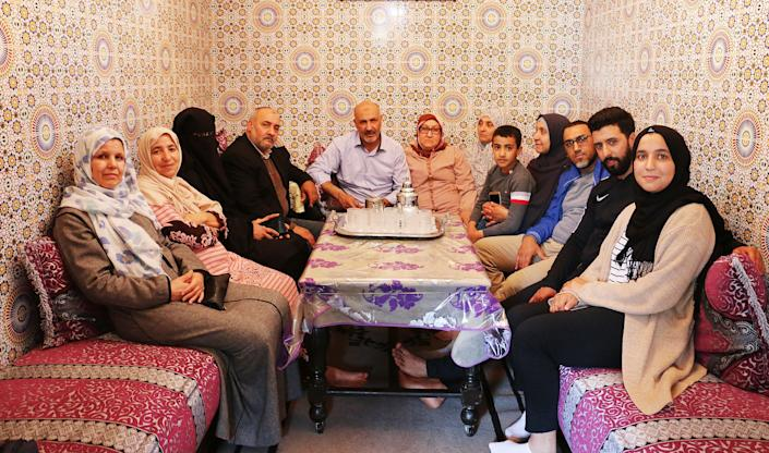 Nasser's family in the home where he grew up in Casablanca, Morocco. (Photo: Jessica Schulberg/HuffPost)