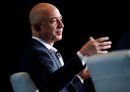 Jeff Bezos, founder of Blue Origin and CEO of Amazon, speaks about the future plans of Blue Origin in Washington
