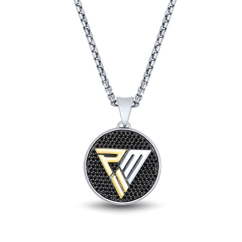 Black Diamond Circle Pendant