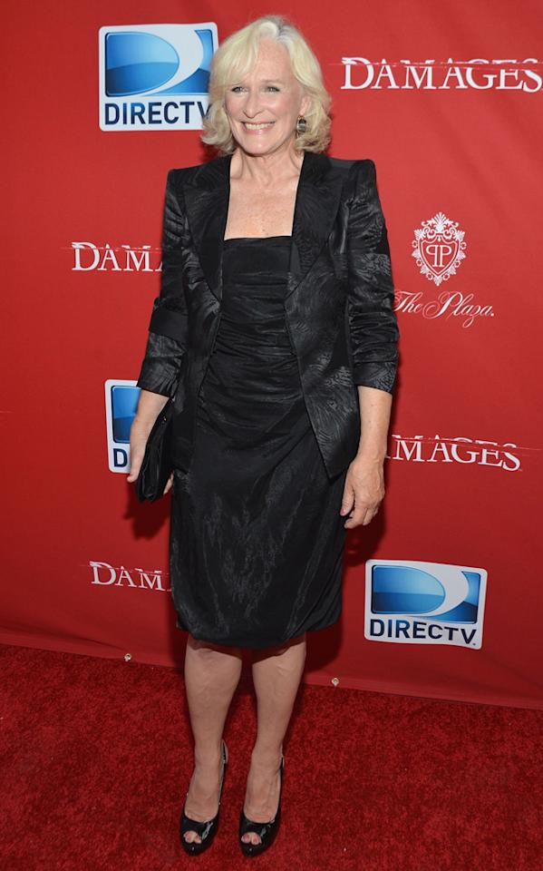"Glenn Close attends The DirecTV premiere for the fifth and final season of ""Damages"" at Paris Theater on June 28, 2012 in New York City."
