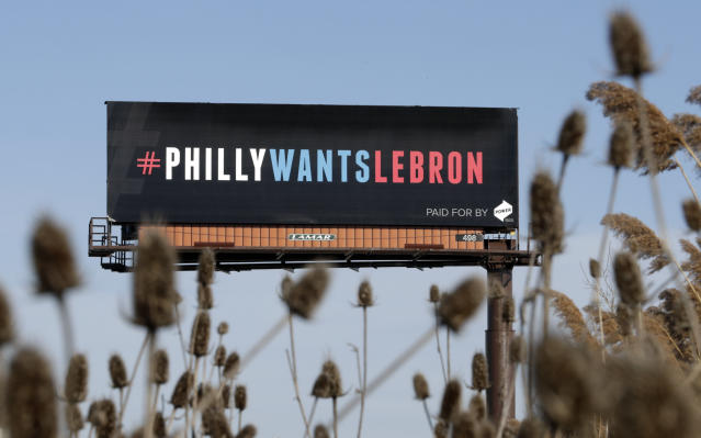 A Pennsylvania company put these billboards up outside Cleveland. (AP)