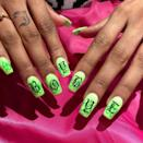"""<p>If you're gonna make a statement with neon green, you may as well take the opportunity to say how you really feel.</p><p><a href=""""https://www.instagram.com/p/BssrqQslkou/"""" rel=""""nofollow noopener"""" target=""""_blank"""" data-ylk=""""slk:See the original post on Instagram"""" class=""""link rapid-noclick-resp"""">See the original post on Instagram</a></p>"""