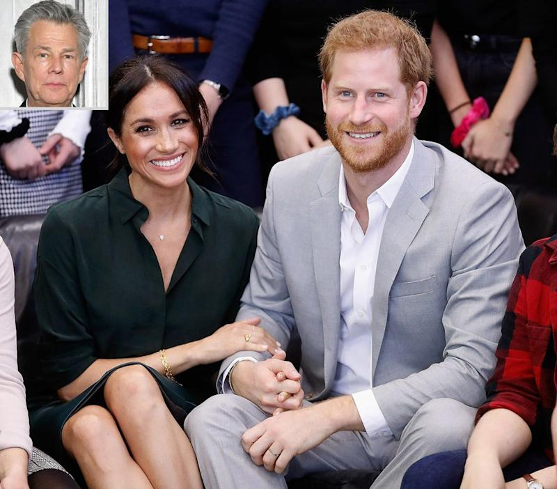 David; Meghan Markle and Prince Harry | Chris Jackson/Getty. Inset: Mike Coppola/Getty