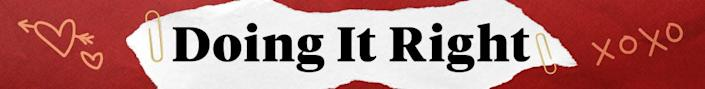doing it right banner