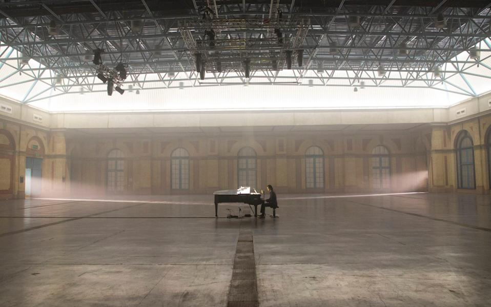 No mingling: Nick Cave was forced to perform alone, at Alexandra Palace, for an online-only audience - PR