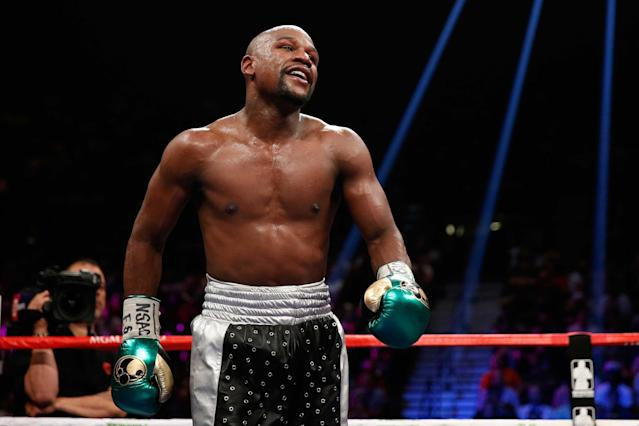 Floyd Mayweather has set his sights, yet again, on UFC lightweight champion Conor McGregor. (Getty Images)