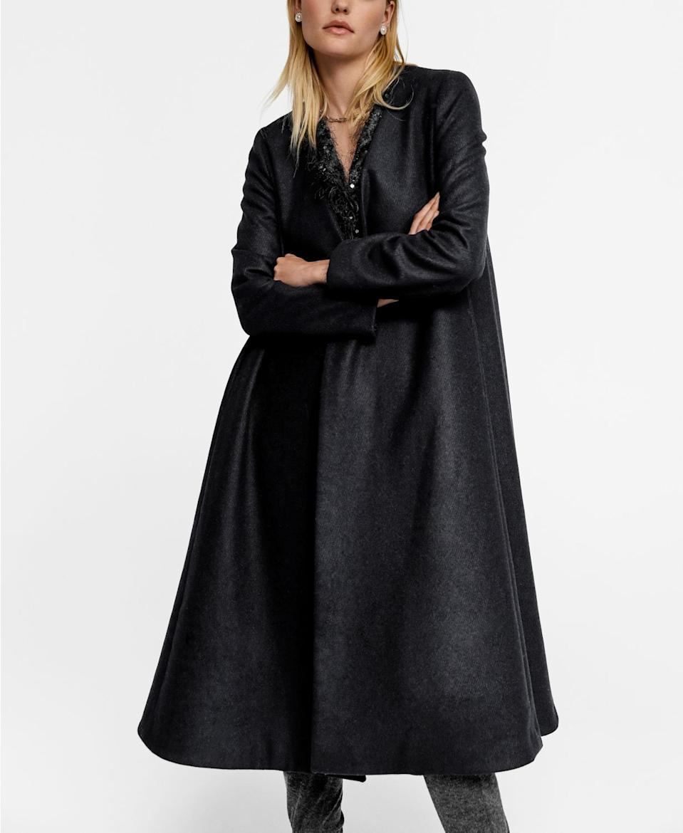 """<br><br><strong>Mango</strong> Leandra Medine Recycled Wool Oversize Coat, $, available at <a href=""""https://www.macys.com/shop/product/leandra-medine-recycled-wool-oversize-coat?ID=10407667&CategoryID=80422#fn=BRAND%3DFree%20People%3B%3Bkensie%3B%3BMANGO%3B%3BThe%20North%20Face"""" rel=""""nofollow noopener"""" target=""""_blank"""" data-ylk=""""slk:Macy's"""" class=""""link rapid-noclick-resp"""">Macy's</a>"""