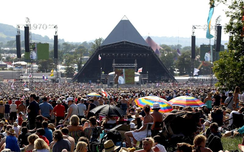 Crowds at the 2010 festival, the 40th anniversary year - Getty