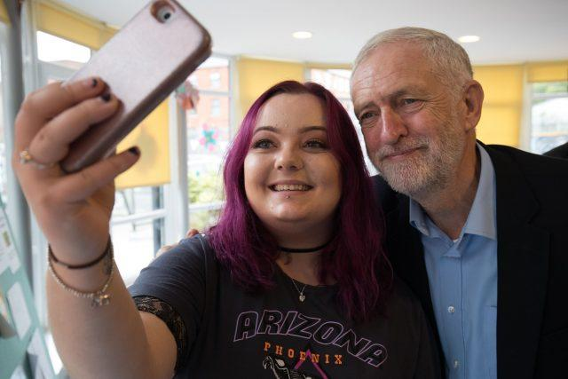 Labour leader Jeremy Corbyn was popular with students at the election. (Aaron Chown/PA)