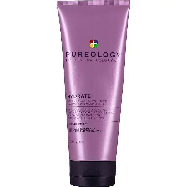 <p>Harriet Muldoon, a colorist at Larry King salon in London (who is known for being particularly adept at creating natural-looking shades of blond), recommends <span>Pureology Hydrate Superfood Deep Treatment Mask</span> ($38). She noted that it's especially great for those with bleached hair thanks to its rich, nourishing formula that contains both coconut and avocado oils.</p>