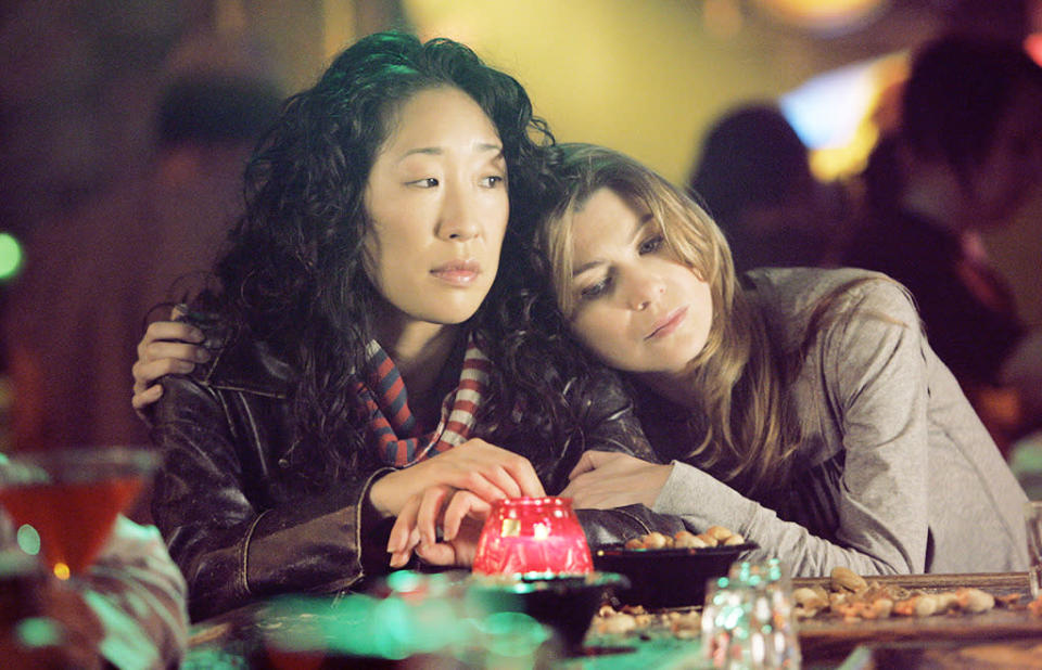 <p><em>Grey's Anatomy</em> hooked me with McDreamy, but I stayed loyal for so many seasons because of Meredith and Cristina's friendship. When the show premiered in 2005, I wasn't my brightest or shiniest so it was the portrayal of these dark and twisty characters that really spoke to me. Who wouldn't want a person to be there for them throughout Sweeps Week-level scenarios including bombs in body cavities, near drownings, mass shootings, and plane crashes, as well as the mundane (eating pizza and drinking tequila)? They also taught me to dance it out when I'm down and be the sun of my own life. –Lauren Tuck <br>(Credit: Craig Sjodin/ABC/Getty Images)</p>