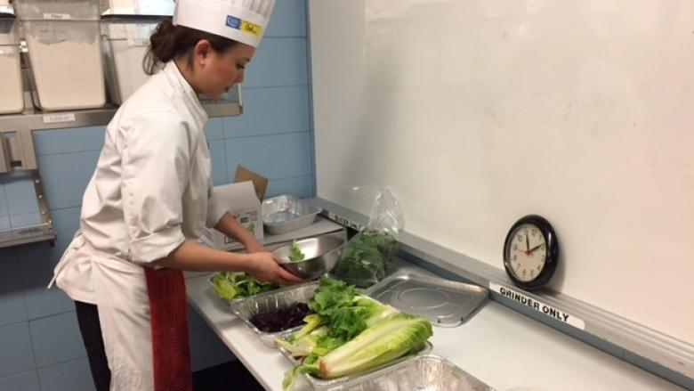 Culinary school curbs waste with student food bank