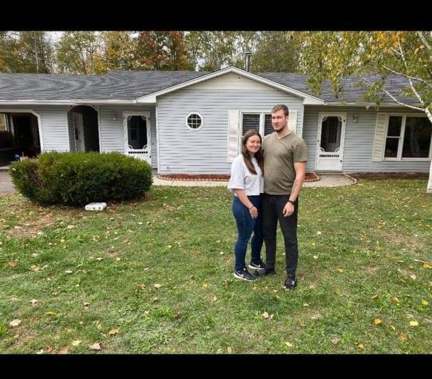 Courtney Case and Matt Wakefield bought a home in Beaver Dam last fall after Wakefield was transferred to Base Gagetown for work.
