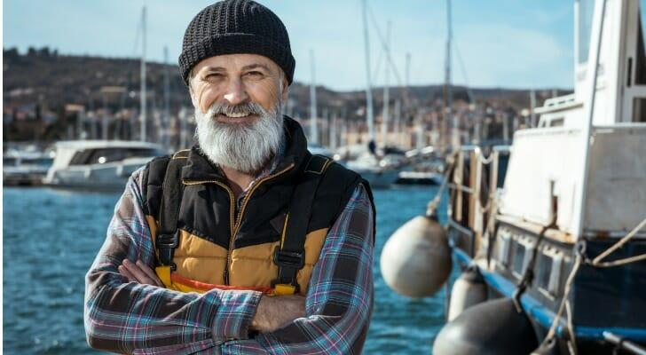 Independent commercial fisherman at the docks