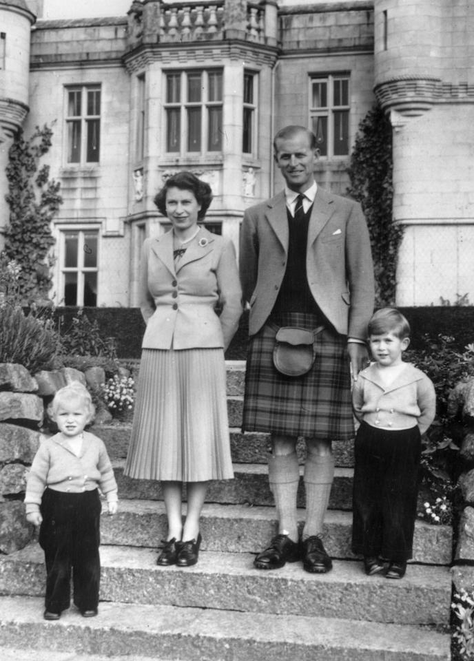 At Balmoral with Prince Charles and Princesss Anne. [Photo: Getty]