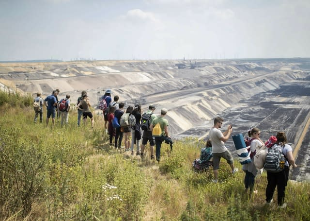 Climate protesters leave German coal mine