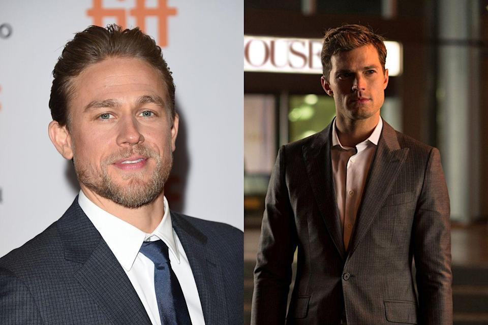 "<p>Hunnam famously pulled out of the much-hyped <em>Fifty Shades </em>adaptation, with the part eventually going to Jamie Dornan. Scheduling conflicts between the movie, his show <em>Sons of Anarchy</em>, and the Guillermo del Toro film <em>Crimson Peak</em> became too much to handle, and Hunnam called <em>Fifty Shades</em> director Sam Taylor-Johnson with the bad news. ""We both cried our eyes out on the phone for 20 minutes,"" he <a href=""http://variety.com/2015/film/news/charlie-hunnam-fifty-shades-of-grey-exit-1201592627/"" rel=""nofollow noopener"" target=""_blank"" data-ylk=""slk:told V Man"" class=""link rapid-noclick-resp"">told <em>V Man</em></a>. ""There was a lot of personal stuff going on in my life that left me on real emotional shaky ground and mentally weak. I just got myself so f--king overwhelmed, and I was sort of having panic attacks about the whole thing."" </p>"