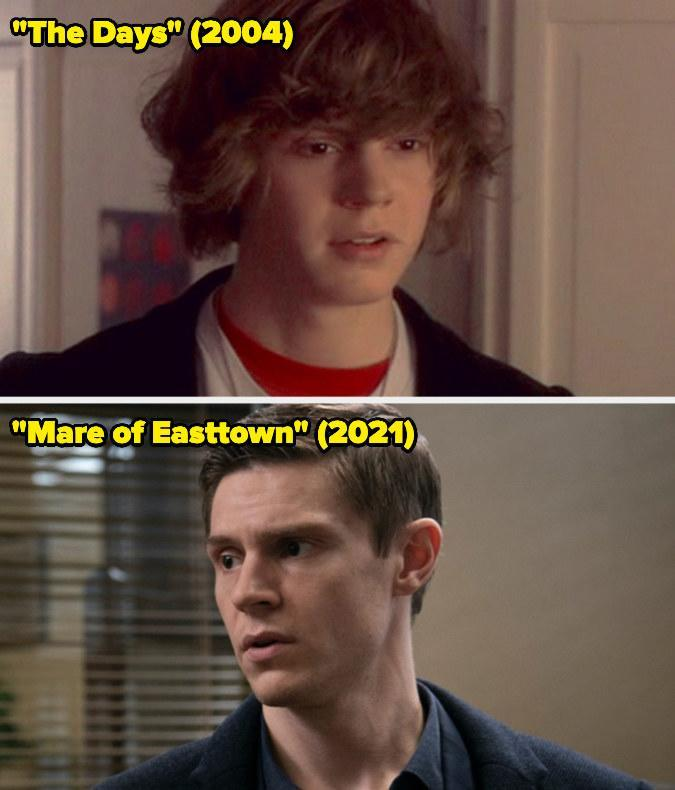 Then: He played Cooper Days on the short-lived series The Days.Now: He won the Emmy forOutstanding Supporting Actor in a Limited Series or Movie for his portrayal of detective Colin Zabel on Mare of Easttown.