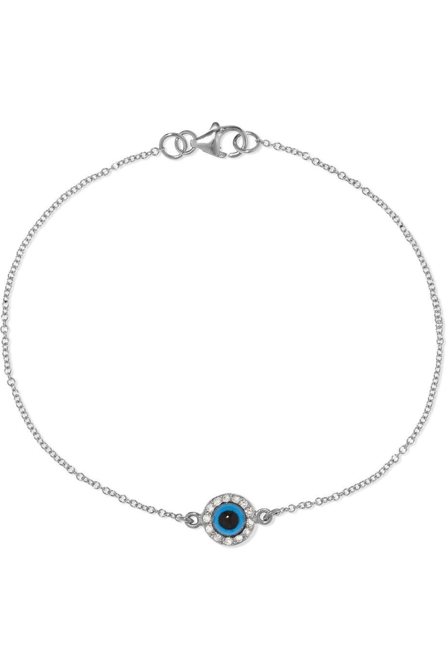 "<br> <br> <strong>Ileana Makri</strong> Double Eye White Gold, Diamond and Glass Bracelet, $, available at <a href=""https://go.skimresources.com/?id=30283X879131&url=https%3A%2F%2Fwww.net-a-porter.com%2Fus%2Fen%2Fproduct%2F1137965%2FIleana_Makri%2Fdouble-eye-18-karat-white-gold-diamond-and-glass-bracelet"" rel=""nofollow noopener"" target=""_blank"" data-ylk=""slk:Net-A-Porter"" class=""link rapid-noclick-resp"">Net-A-Porter</a>"