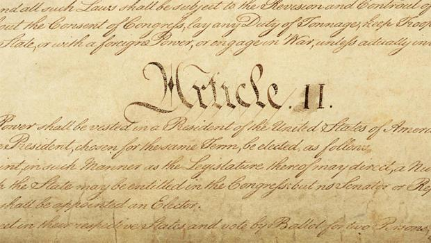 Article II of the U.S. Constitution, which was ratified in 1788, states,
