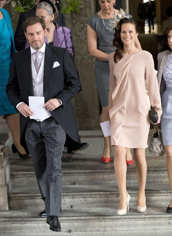 <p>At the christening of Princess Estelle of Sweden in 2012.</p>