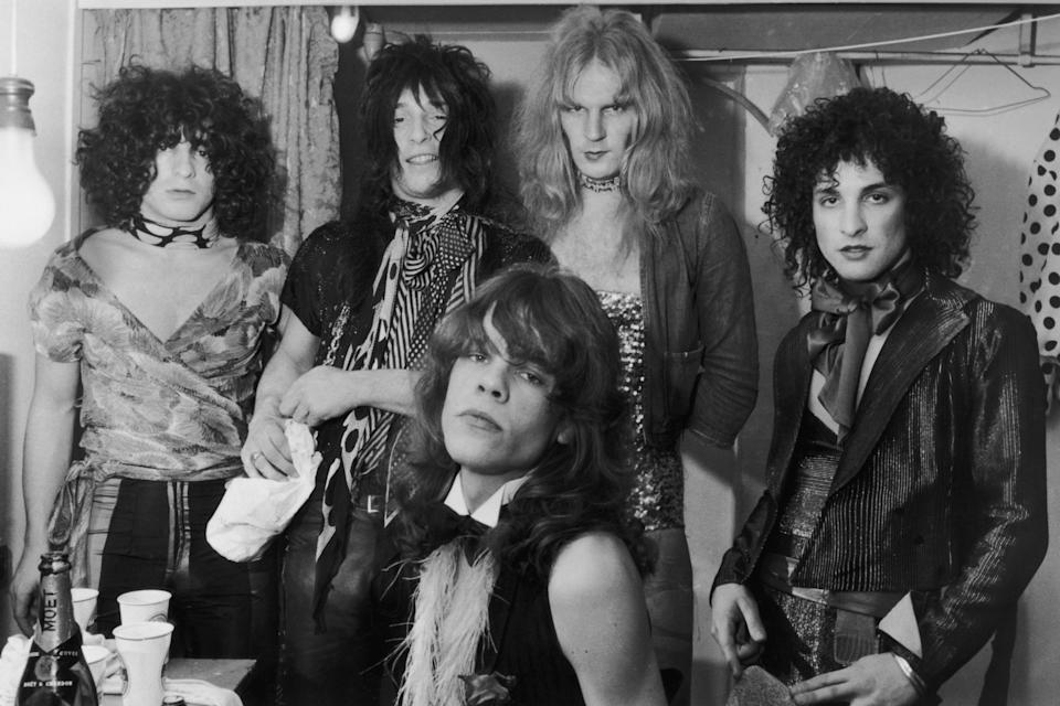 Sylvain (right) with the New York Dolls in 1972Getty