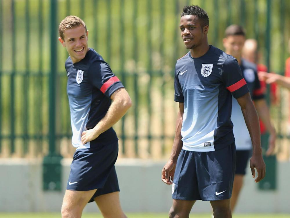 Zaha and Henderson had a falling out in the under-21s (Getty)