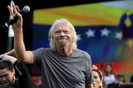 "FILE PHOTO: Sir Richard Branson attends the ""Venezuela Aid Live"" concert near the Tienditas cross-border bridge between Colombia and Venezuela, in Cucuta"