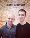 <p>The pair met at Central Saint Martins in 2006 and have been partners ever since.<br><i>[Photo: Instagram/palmerharding]</i> </p>