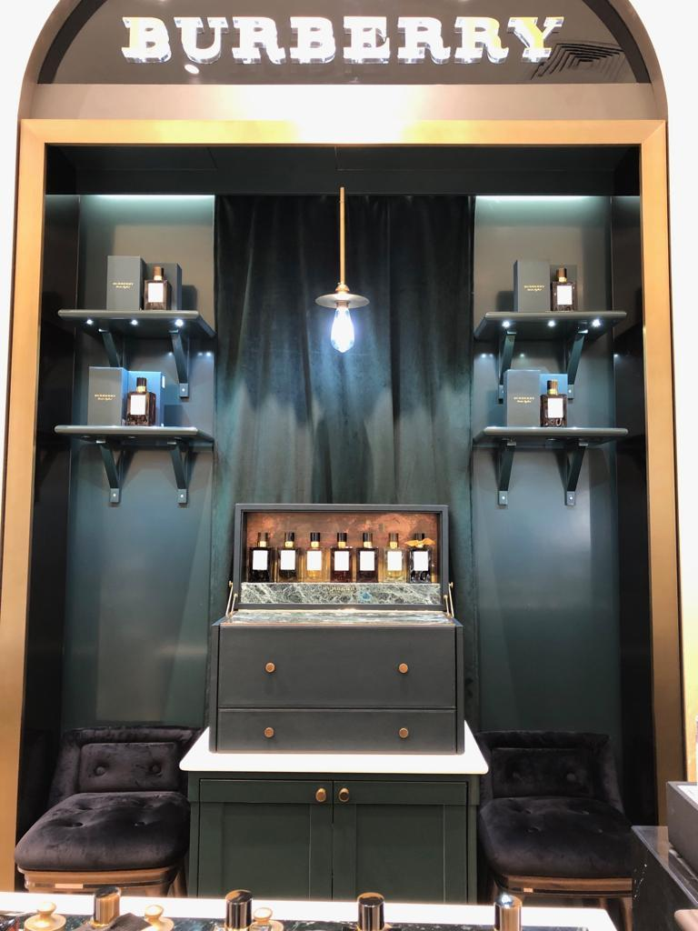 Burberry Bespoke's first counter in Singapore. (PHOTO: Reta Lee/Yahoo Lifestyle)
