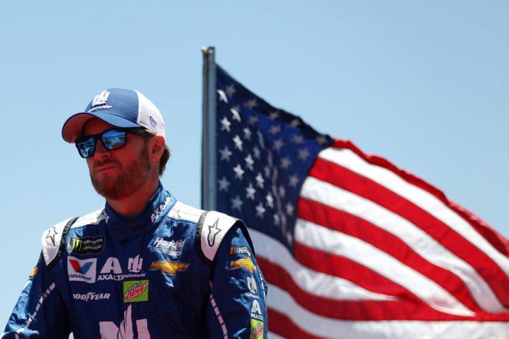 Dale Earnhardt Jr., enjoying his penultimate Talladega start. (Getty Images)
