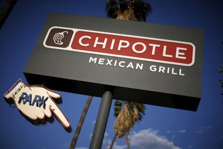 A Chipotle Mexican Grill is seen in Los Angeles