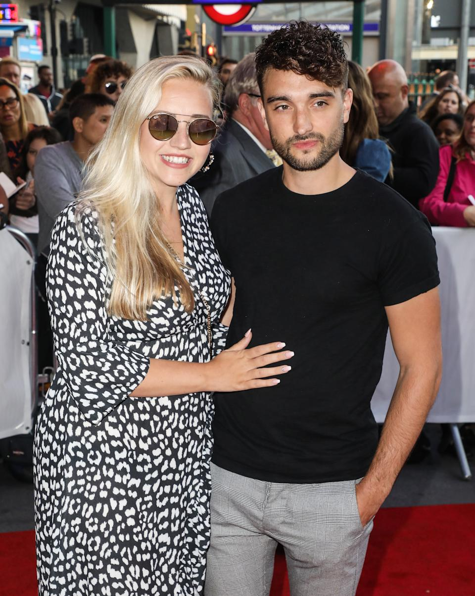 LONDON, UNITED KINGDOM - 2019/09/17: Kelsey Hardwick and Tom Parker attending the press night for Big the Musical at the Dominion Theatre in London. (Photo by Brett Cove/SOPA Images/LightRocket via Getty Images)
