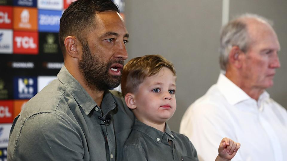 Fans have paid tribute to Benji Marshall, who announced his retirement from the NRL on Wednesday afternoon. (Photo by Chris Hyde/Getty Images)