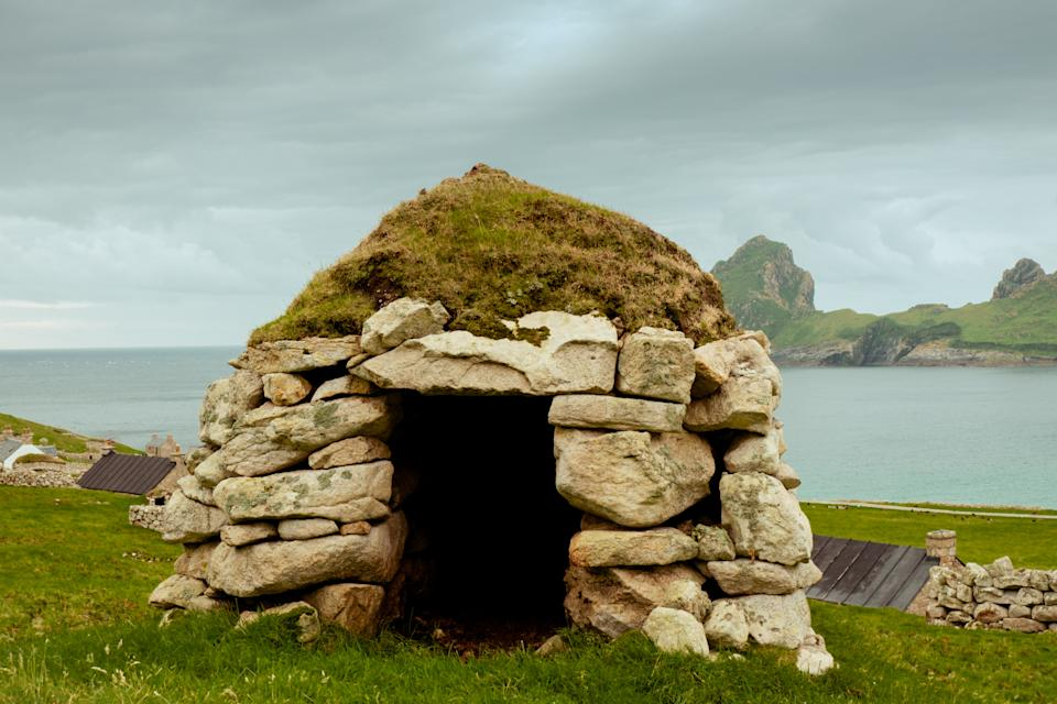 A old hut on the island (SWNS)
