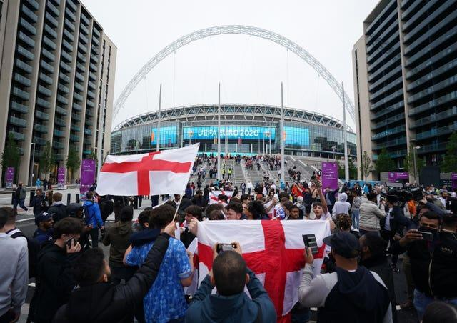 England fans have once again been out in numbers supporting Southgate and his players.