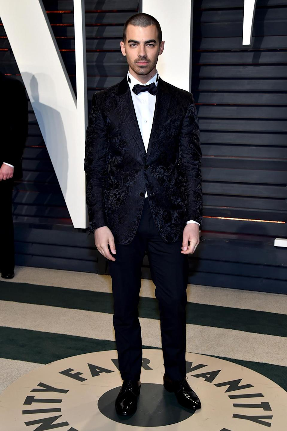 <p>Joe Jonas attends the 2017 Vanity Fair Oscar Party hosted by Graydon Carter at Wallis Annenberg Center for the Performing Arts on February 26, 2017 in Beverly Hills, California. (Photo by Pascal Le Segretain/Getty Images) </p>
