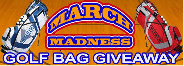 """<b>Club sport</b>. OK, wait a minute -- win a golf bag in a college basketball contest? Madness, indeed. Give up your name, phone number, and email to Golf Bag Warehouse, <a href=""""http://blog.golfbagwarehouse.com/golf/march-madness-golf-bag-giveaway/"""" rel=""""nofollow noopener"""" target=""""_blank"""" data-ylk=""""slk:for your chance"""" class=""""link rapid-noclick-resp"""">for your chance</a> at an OGIO Ozone XX Stand Bag. You have until March 30."""