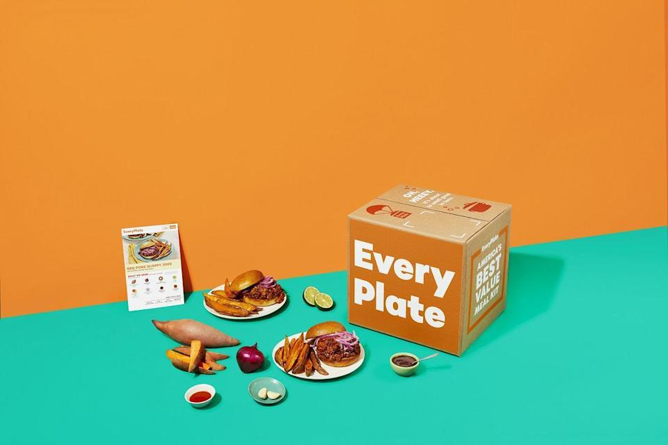"""<p>Like Dinnerly, EveryPlate prides itself on its affordability. By using less packaging and simple ingredients, the service starts its meal kit prices at $38.92. That price includes shipping and three recipes that serve two people each week. Customers can also choose to receive as many as five recipes and each plan has a four-person serving size.</p> <p>Customers choose from a selection of about 14 to 16 recipes each week. Anecdotally, about three of those options are vegetarian but EveryPlate doesn't have specific meal plans for different diets or lifestyles.</p> <p><a href=""""https://www.thedailymeal.com/cook/everyplate-meal-kit?referrer=yahoo&category=beauty_food&include_utm=1&utm_medium=referral&utm_source=yahoo&utm_campaign=feed"""" rel=""""nofollow noopener"""" target=""""_blank"""" data-ylk=""""slk:For the full EveryPlate review, click here."""" class=""""link rapid-noclick-resp"""">For the full EveryPlate review, click here.</a></p>"""