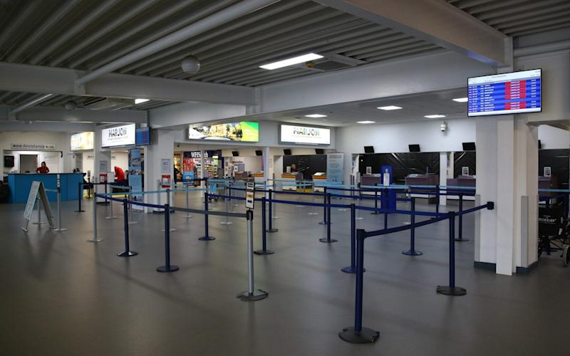 Exeter airport had just nine passengers in May