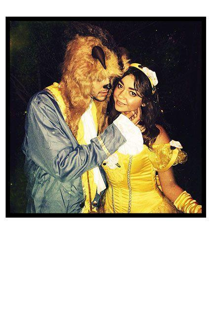 <p>As Belle and the Beast from <em>Beauty and the Beast</em>.</p>