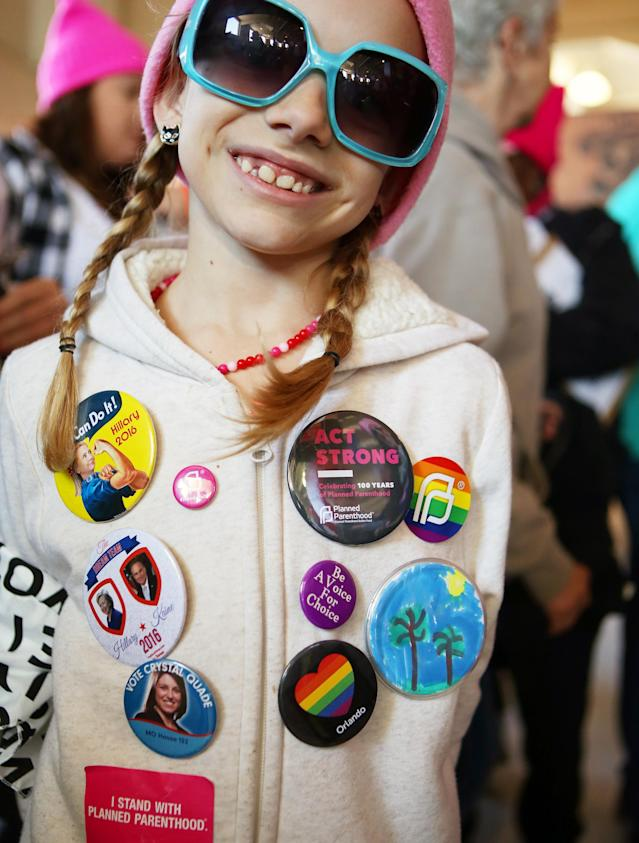 <p>Ella Bargo, 7, came with her family from Springfield, Mo. (Photo: Ronda Churchill for Yahoo Lifestyle) </p>