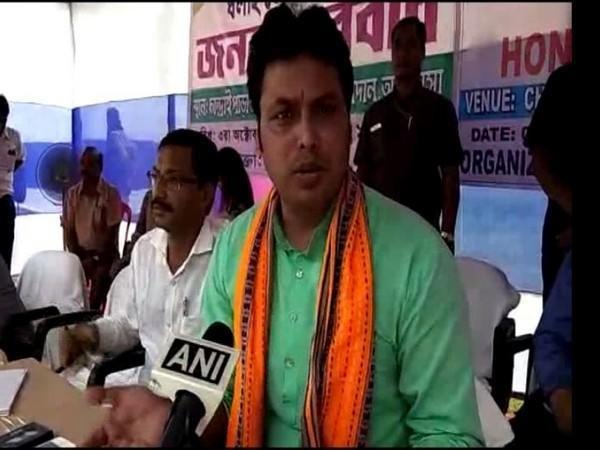 Chief Minister Biplab Kumar Deb launched the 'bamboo candles' on Friday. (Photo/ANI)