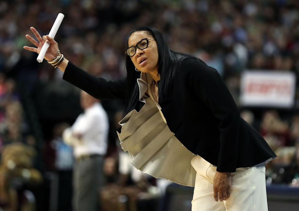 Gamecocks coach Dawn Staley led her team to the 2017 women's NCAA Tournament championship.
