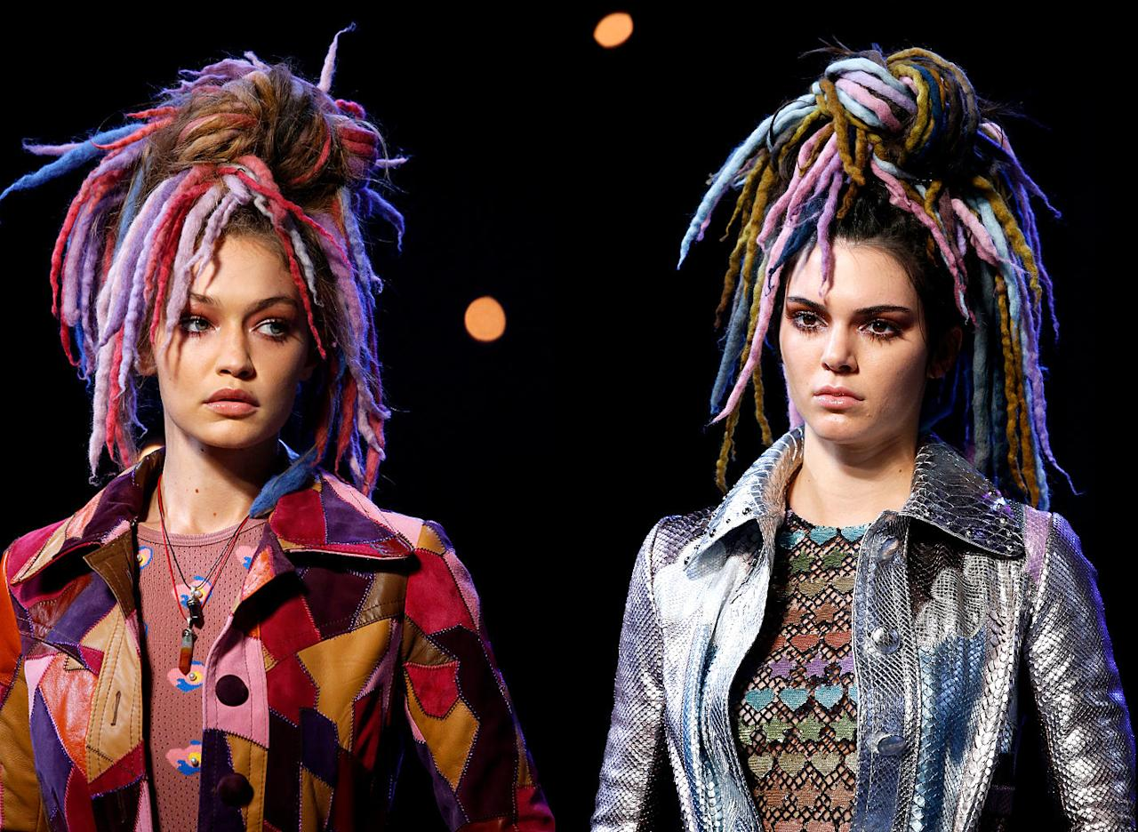 "<p>Marc Jacobs was criticized for cultural appropriation when he sent models down his New York Fashion Week runway wearing colourful fake dreadlocks. The designer defended himself on Instagram saying, ""I respect and am inspired by people and how they look. I don't see colour or race — I see people…Appreciation for all and inspiration from anywhere is a beautiful thing. Think about it."" He later apologized for ""the lack of sensitivity unintentionally expressed by [his] brevity."" [Photo: Getty] <br /></p><p>Read more <a rel=""nofollow"" href=""https://ca.style.yahoo.com/meet-the-woman-who-dyed-12500-yards-of-faux-dreadlocks-for-the-marc-jacobs-show-180854934.html""><strong>here</strong>.</a></p><p></p>"