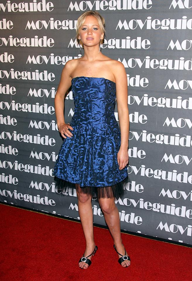 Before nominee Jennifer Lawrence had  fashion houses vying to dress her, she hit the 2007 Movieguide Faith and Values Awards in a dress and shoes that would have served her well at a prom.
