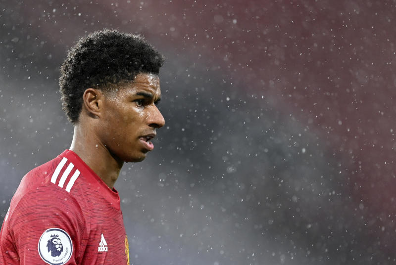 Marcus Rashford's activism on behalf of hungry children is nothing short of inspirational, and should cast scrutiny on the government officials whose inaction necessitated it. (Michael Regan/Pool via AP)