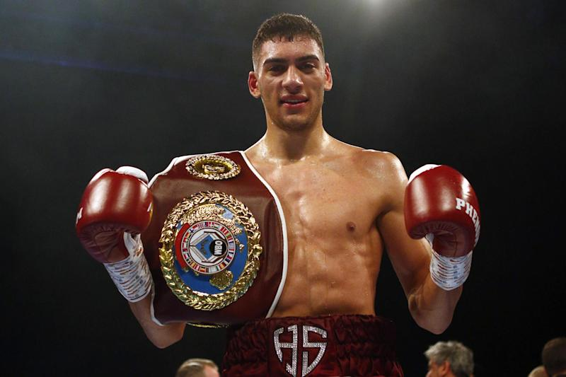Sheeraz fighting on Friday Photo: Getty Images